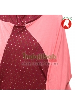 Jilbab Lengan Qafiya Pink 001