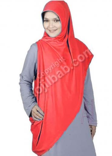 Pashmina Instan 04 Merah 001