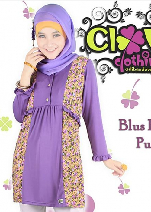 Blus Fania Purple