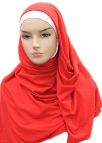 Cotton Shawl Pashmina Merah 002