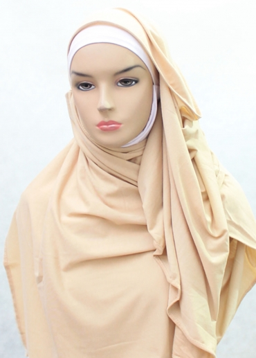 Cotton Shawl Pashmina Coklat 002