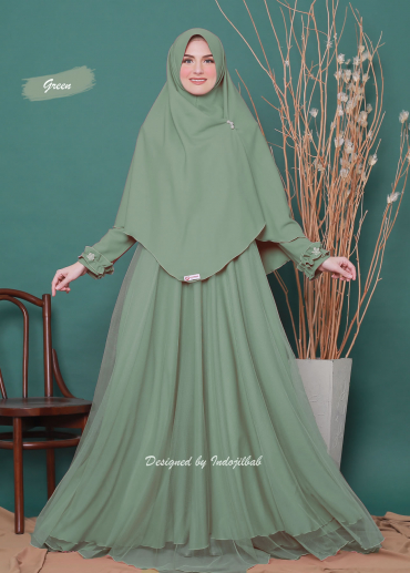 Firdaus Set Green 037 (PO)