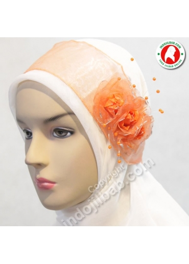 Bandana Pesta Mawar Orange 001